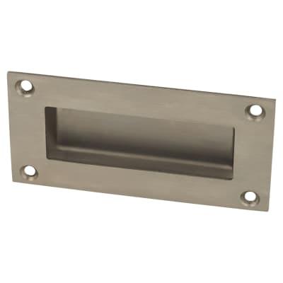 Altro Rectangular Flush Handle - 51 x 102mm - Satin Stainless Steel