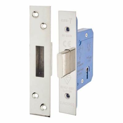 A-Spec BS3621 5 Lever Deadlock - 78mm Case - 57mm Backset - Polished Stainless