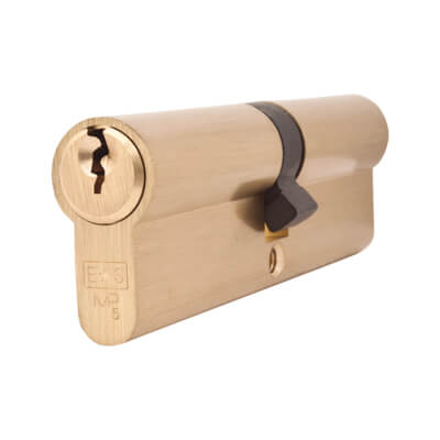 5 Pin Cylinder - Euro Double - 50 + 50mm - Brass