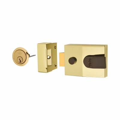 Yale® 89 Double Locking Nightlatch - 60mm Backset - Brass Case/Cylinder