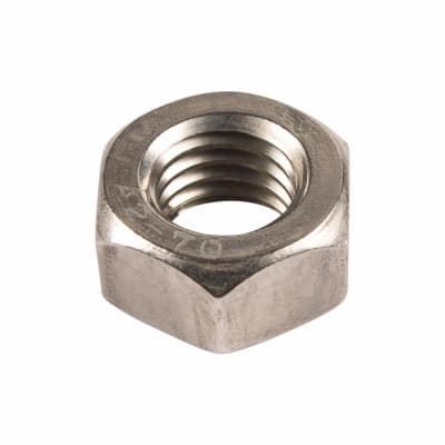 Hex Full Nut - M10 - A2 Stainless Steel - Pack 100