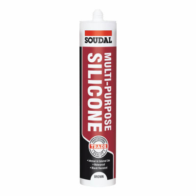 Soudal Multi-Purpose Silicone - 300ml - Brown
