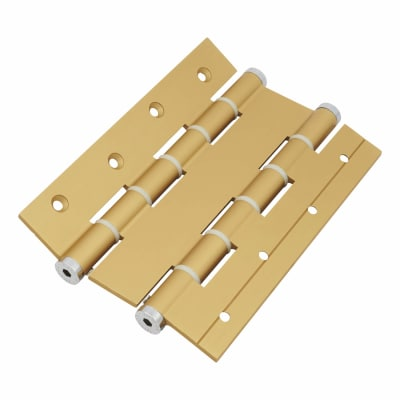 Architectural Double Action Spring Hinge - 180mm - Gold