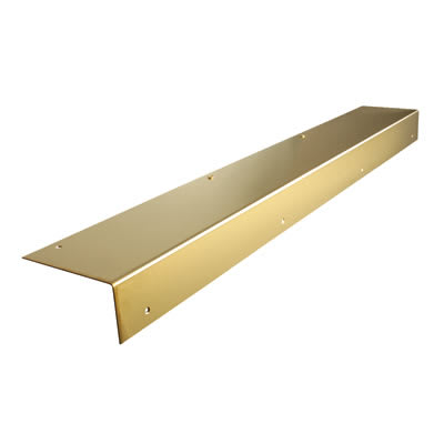 Altro Angle Door Step - 900mm - Polished Brass