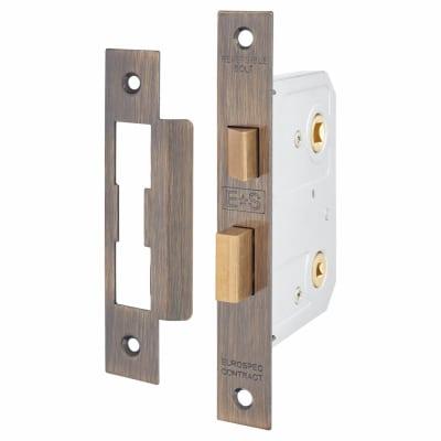 Project Bathroom Lock - 76mm Case - 58mm Backset - Florentine Bronze