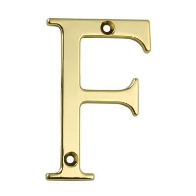 76mm Letter - F - Gold