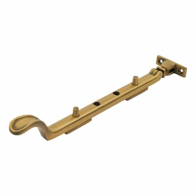 M Marcus Casement Window Stay Spoon End - 250mm/10 inch Antique Brass