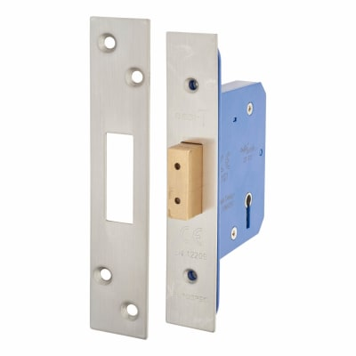 A-Spec Architectural 5 Lever Deadlock - 65mm Case - 44mm Backset - Satin Stainless