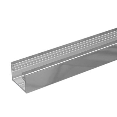 Dry Glazing Channel - 8mm Glass - Polished Aluminium