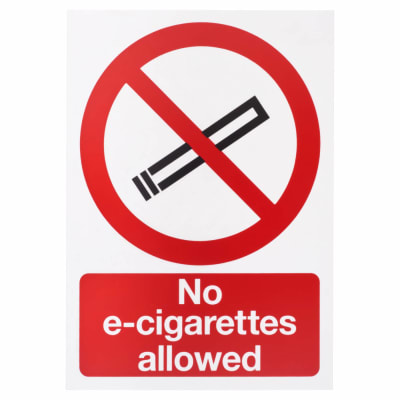 No E-Cigarettes Allowed - 297 x 210mm