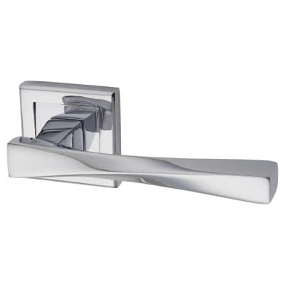 Morello Spirit Lever Door Handles on Rose - Polished Chrome