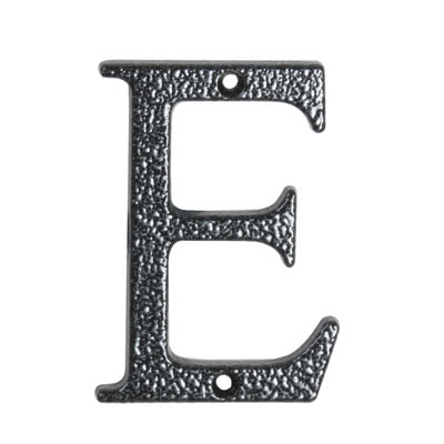 76mm Letter - E - Antique Black Iron