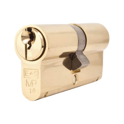 Eurospec MP10 - Euro Double Cylinder - 35 + 35mm - Polished Brass  - Keyed to Differ