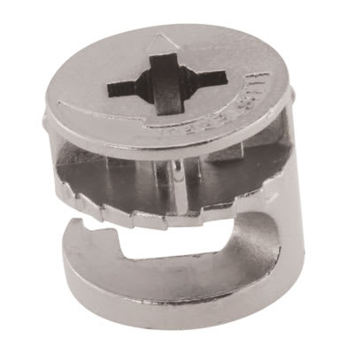 Rimless Cam Connector - Min Panel Thickness 18mm - Nickel Plated - Pack 50