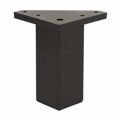 ABS Plastic Furniture Leg - Square - 40 x 40 x 60mm - Black