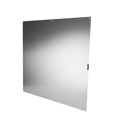 Half door panel kick plate - 760 x 760mm - Satin Anodised Aluminium