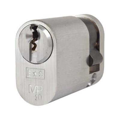 Eurospec MP10 UK Oval Single Cylinder 42mm Keyed to Differ - Satin Chrome  - Master Keyed