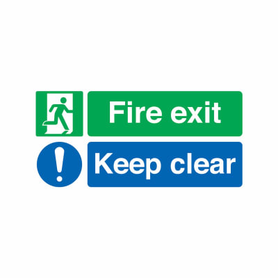 Fire Exit Keep Clear - 150 x 450mm