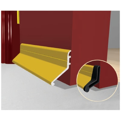 Exitex Slimline Rain Deflector and Drip Weather Bar - 914mm - Gold
