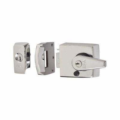 ERA® BS3621:2007 Double Locking Nightlatch - 60mm Backset - Polished Chrome