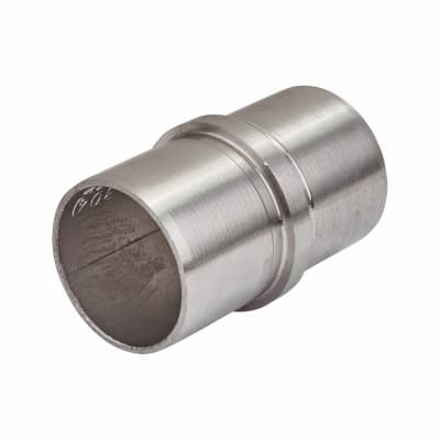 Balustrade Straight Handrail Tube Connector - 304 Stainless Steel - Brushed Satin