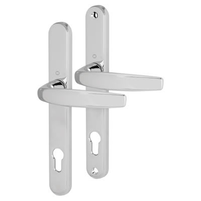 Hoppe Atlanta Multipoint Handle - uPVC/Timber - 92mm centres - 70mm door thickness - Polished Chrom