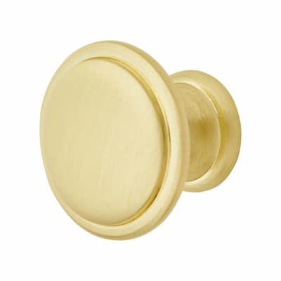 Elan Disc Cabinet Knob - 30mm Diameter - Satin Brass