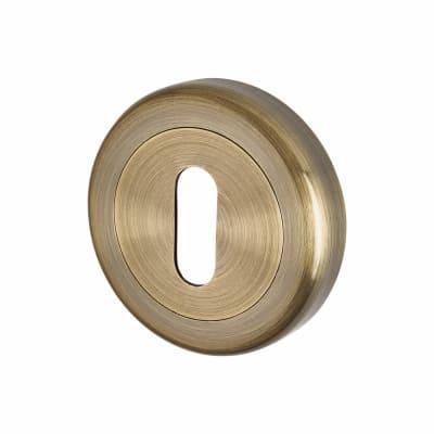 Morello Escutcheon - Keyhole - Antique Brass