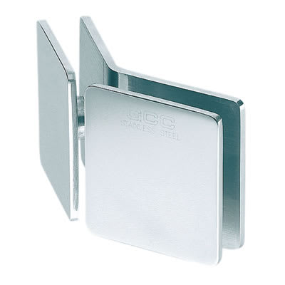 Glass to Glass Clamp - 135° - 8-12mm Glass - Polished Chrome