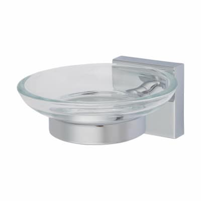 Croydex Chester Soap Dish & Holder - 127mm - Polished Chrome