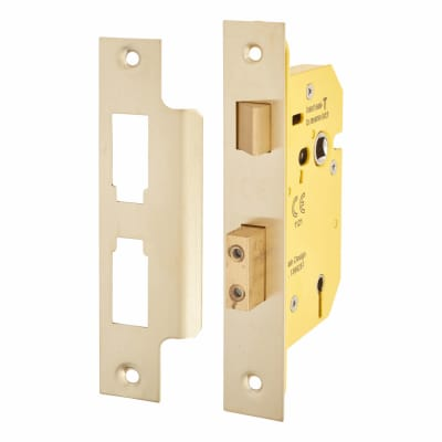Altro 3 Lever Sashlock - 65mm Case - 44mm Backset - PVD Brass
