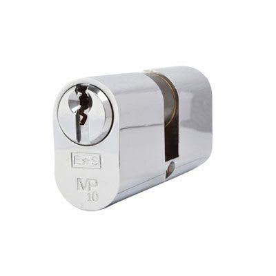 Eurospec MP10 - Oval Double Cylinder - 32 + 32mm - Polished Chrome  - Keyed Alike