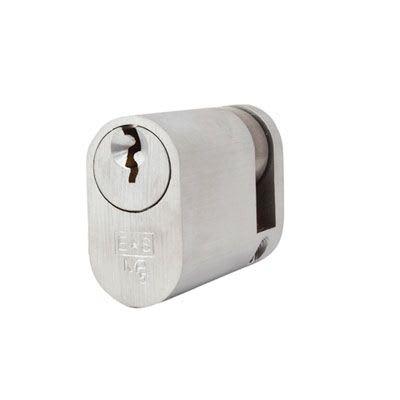 Eurospec MP5 - Oval Single - 35 + 10mm - Satin Chrome  - Master Keyed