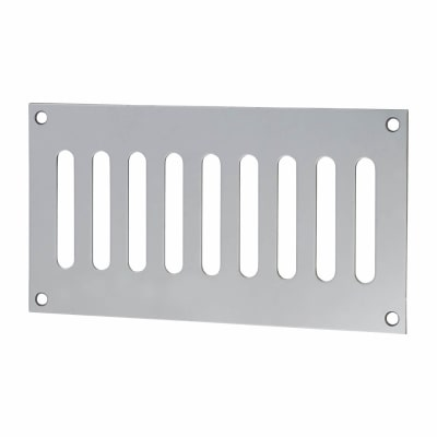 Plain Slotted Vent - 165 x 89mm - 3040mm2 Free Air Flow - Polished Stainless Steel