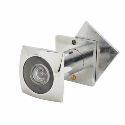 D&E 200° Square Door Viewer - Polished Chrome Plated