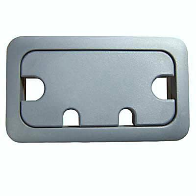 Rectangular Cable Tidy - 105 x 55mm - Dark Grey - Pack 10