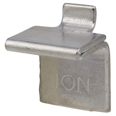 ION Heavy Duty Flat Bookcase Clip - Chrome Plated - Pack 10