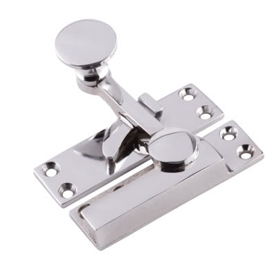 Quadrant Arm Sash Fastener - 72mm - Polished Chrome