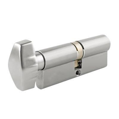 UNION® J2X28 Cylinder - Euro Double & Thumbturn - 32[k]* + 32mm - Satin Chrome