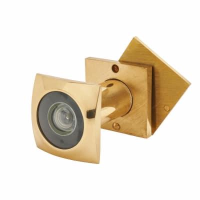 D&E 200° Square Door Viewer - Brass