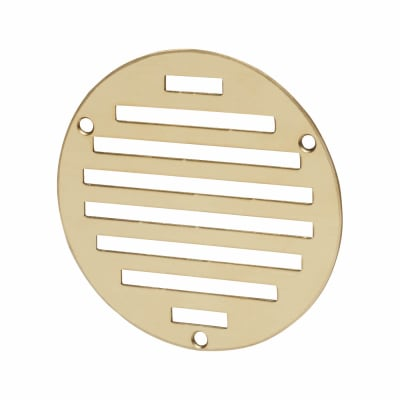 Circular Slotted Vent - 102mm - 1125mm2 Free Air Flow - Polished Brass