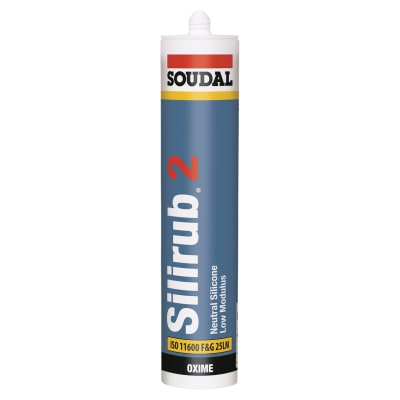 Soudal Silirub 2 Neutral Silicone - 300ml - White