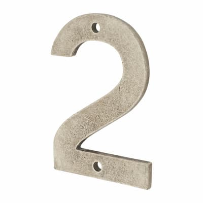 Finesse Numeral Number - 2 - Pewter