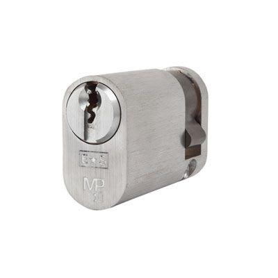 Eurospec MP10 - Oval Single Cylinder - 35 + 10mm - Satin Chrome  - Master Keyed