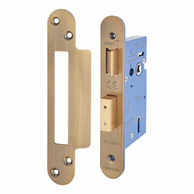 A-Spec Architectural 5 Lever Sashlock - 65mm Case - 44mm Backset - Radius - Florentine Bronze