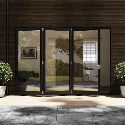 Barrier Vistafold 56-70mm Door Kit - 2 + 2 Door - Gold