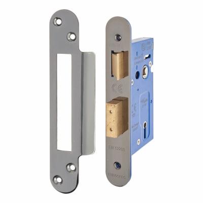 A-Spec Architectural 3 Lever Sashlock - 65mm Case - 44mm Backset - Radius - Black Nickel