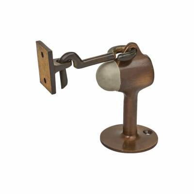 Vertical Door Stop/Holder - 90 x 51mm - Antique Brass