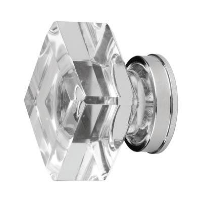 Aglio Square Glass Cabinet Knob - 25mm - Clear