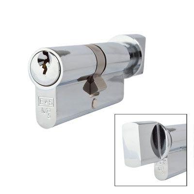 Eurospec MP5 - Euro Cylinder and Turn - 35[k] + 35mm - Polished Chrome  - Master Keyed